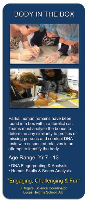 Body in the Box - CSI STEM Workshop for Schools