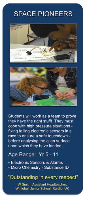 Space Pioneers - STEM Workshop for Schools