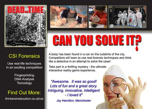 Dead on Time - CSI STEM Thriller Workshop