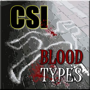 CSI Blood Types - Thinkers in Education CSI Workshops For Schools. A chalk outline of a body with blood spatter patterns set the mood of this one hour activity.