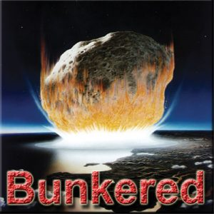 Bunkered - Thinkers in Education Crisis Management Workshops For Schools. A huge asteroid is shown at the moment of impact with Earth in the exhilarating 5 hour STEM workshop.