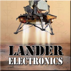 Lander Electronics - Thinkers in Education Space Science Workshops For Schools.  A landing vehicle fires jets from its base in an attempt to safely land on an alien surface