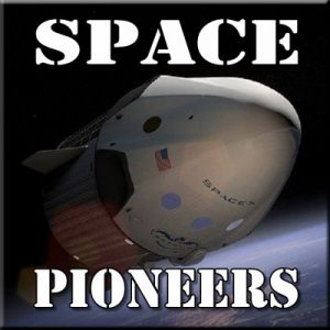 Space Pioneers - Thinkers in Education Space Science Workshops For Schools.  A spacecraft leaves Earth behind as it sets off to explore our solar system.