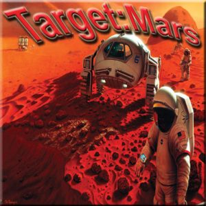 Target: Mars - Thinkers in Education Flagship Space Science Workshops For Schools.  Astronauts and their vehicles can be seen exploring the surface of Mars - the context for a five to 25 hour STEM activity.